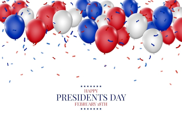 Президентский день с реалистичными воздушными шарами