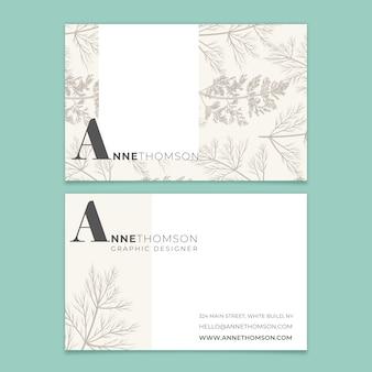 Элегантный минималистичный шаблон визитной карточки