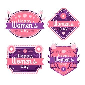Плоский дизайн женский день значок коллекции