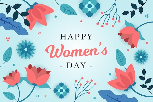 花の女性の日デザイン