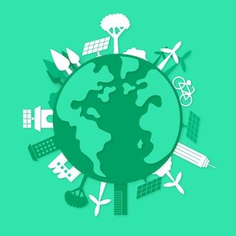 Экологическая концепция в бумажном стиле