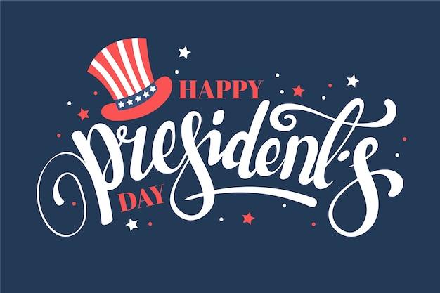 Красочные надписи президентский день