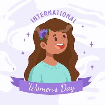国際女性の日のコンセプト