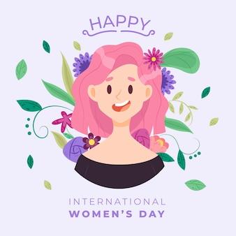 Международный женский день цветочной концепции