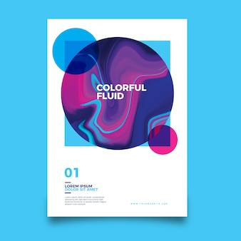 Шаблон постера с красочным эффектом