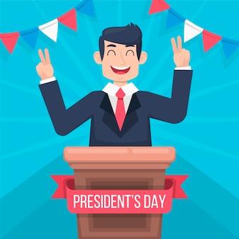 大統領の日のカラフルなお祝い