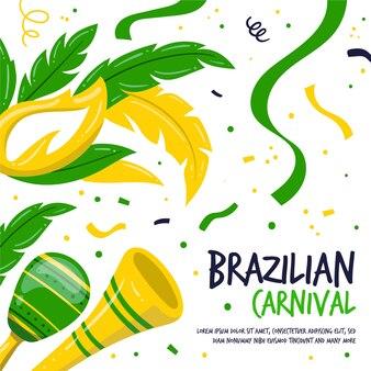 Красочные рисованной бразильский карнавал