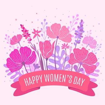 カラフルな花の女性の日の挨拶