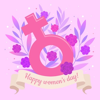 Красочное цветочное женское поздравление с днем
