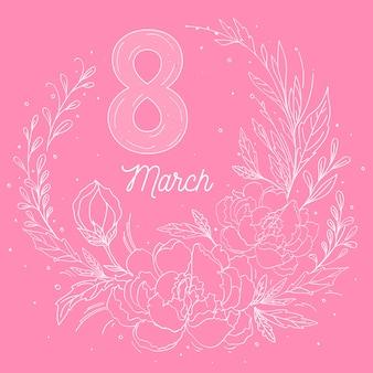 Красочный цветочный женский день