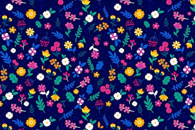 カラフルな頭が変な花柄の背景