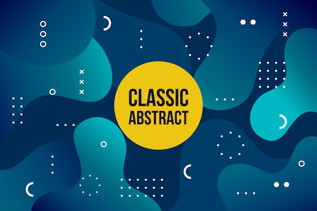 Абстрактная классическая голубая тема для обоев