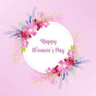 Акварельная тема женского дня