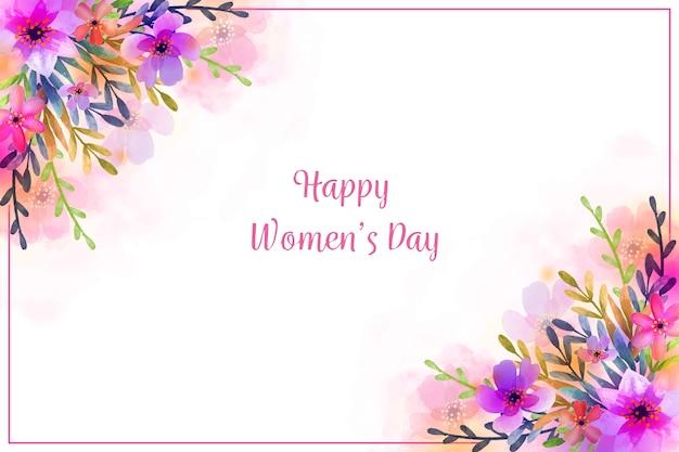 女性の日の水彩画のテーマ
