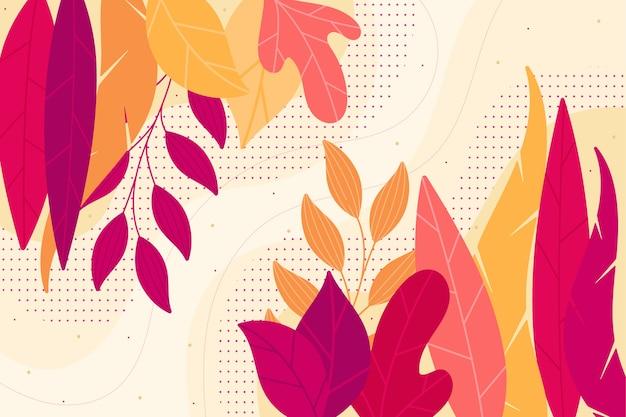 Плоский цветочный фон аннотация