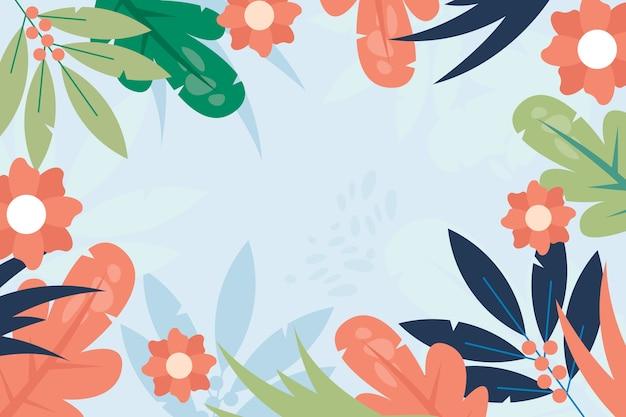 水彩春背景テーマ