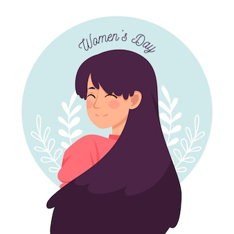 Красочный цветочный женский дизайн дня