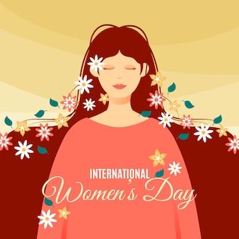 Плоский дизайн женского дня праздничное мероприятие