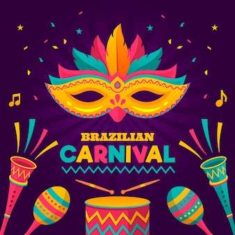 パーティーのブラジルのカーニバルのテーマ