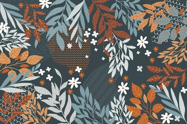 Плоский дизайн абстрактные цветочные темы для фона