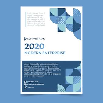 Абстрактный классический синий дизайн шаблона плаката