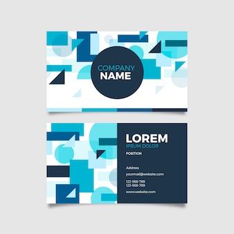 Классический синий шаблон визитной карточки