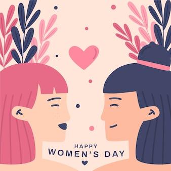 Плоский дизайн женский день празднования