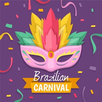 Празднование бразильского карнавала