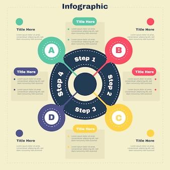 Инфографика с ретро-дизайном цветов