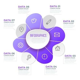 グラデーション形状のインフォグラフィック