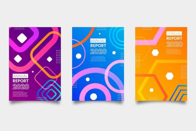 年次報告書の抽象的なテンプレート