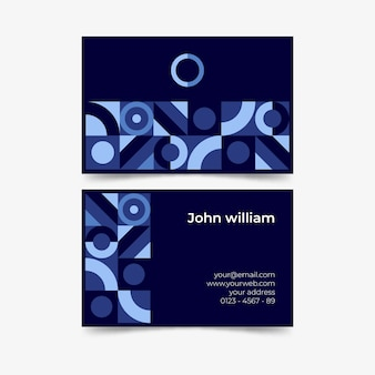 円形デザインの抽象的な名刺