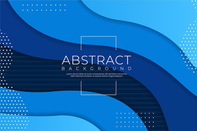 抽象的な古典的な青い背景と液体の効果