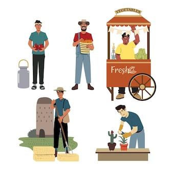人と有機農業の概念