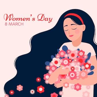 カラフルな女性の日のコンセプト