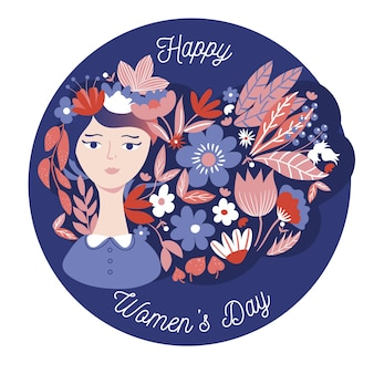 Плоский дизайн женского дня концепция