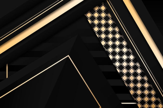 金色のディテールとエレガントな暗い背景