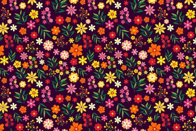 Красочный цветочный принт фон