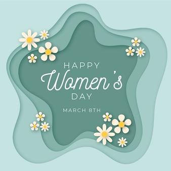 紙のスタイルで女性の日