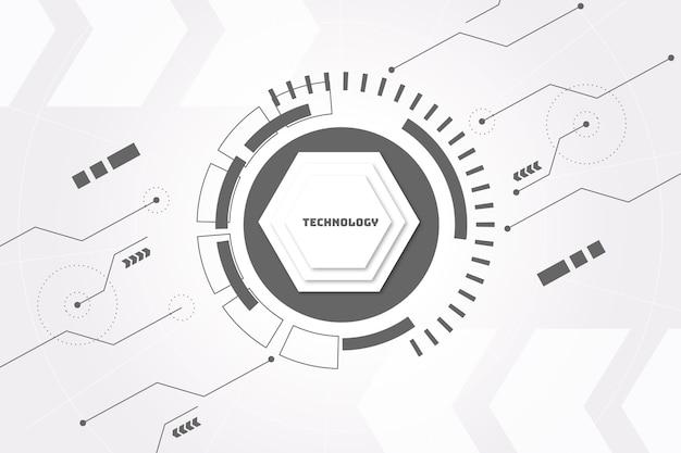 Белый технологический фон