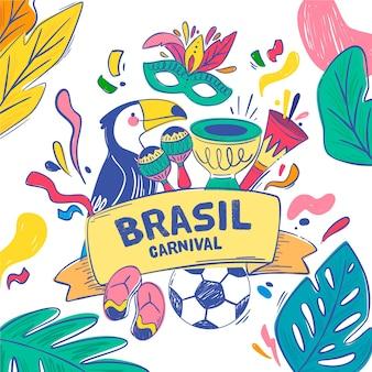 Плоский дизайн бразильский карнавал