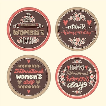 ヴィンテージの女性の日バッジコレクション