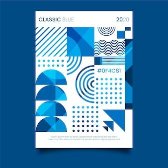 Классический синий постер шаблон