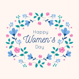 Счастливый женский день цветочный дизайн