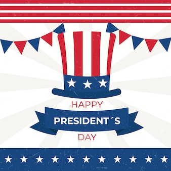 Традиционные американские цвета старинный президентский день