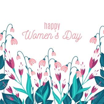 Женский день концепция с цветами