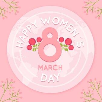 フラットなデザインの女性の日のイベントのお祝いのコンセプト