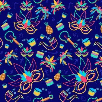 手描きのブラジルのカーニバルのパターン設計