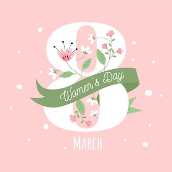 Цветочный женский день концепция
