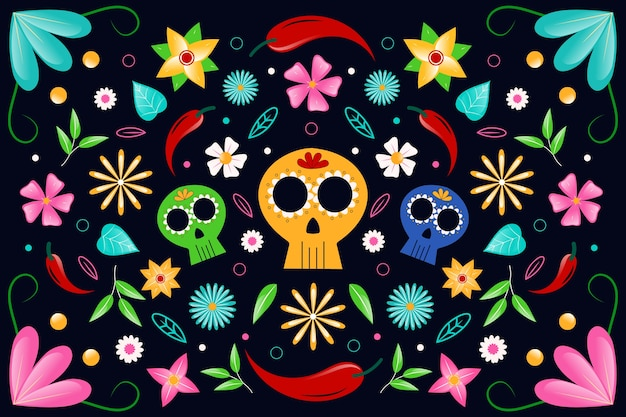 壁紙のカラフルなメキシコのテーマ